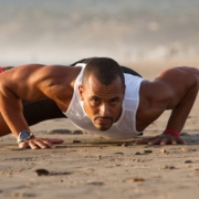 beach pushup