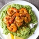 Spicy Shrimp Garlic Parmesan Broccoli Mash
