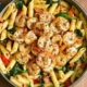 Tomato Spinach Shrimp Pasta recipe