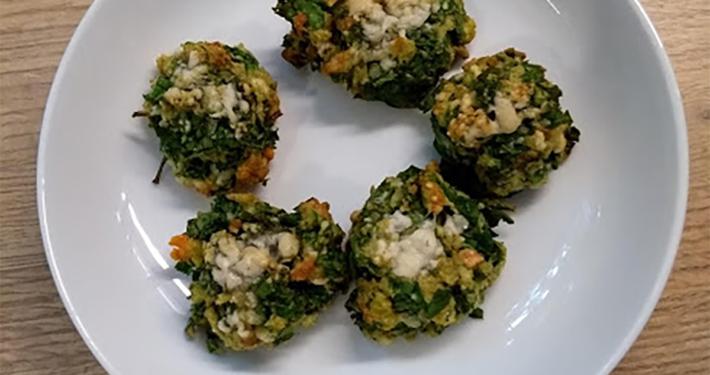 healthy snack food spinach balls