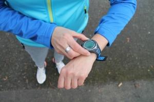 timing fitness stopwatch running