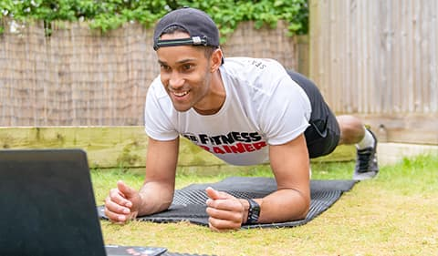 online fitness home